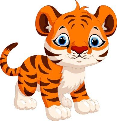 Naklejka Cute Tygrys cartoon