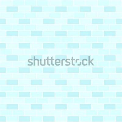 Naklejka Cyan ceglany wzór ściany. Cegła bezszwowe tło wektor