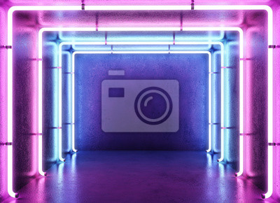 Cyberpunk neon electronic style disco background concept.