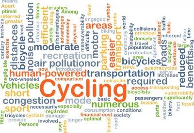 Naklejka Cycling background concept