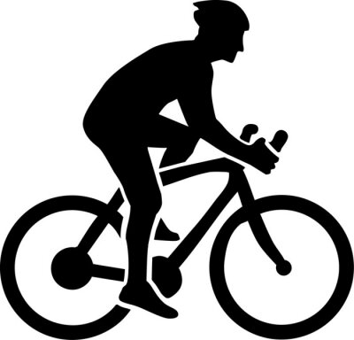 Naklejka Cycling Silhouette