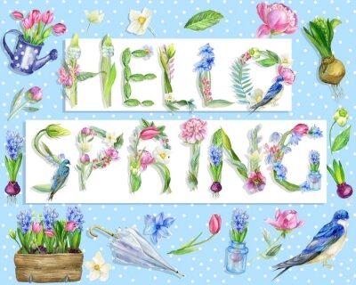 "Cyfrowa ilustracja ""Hello Spring"""