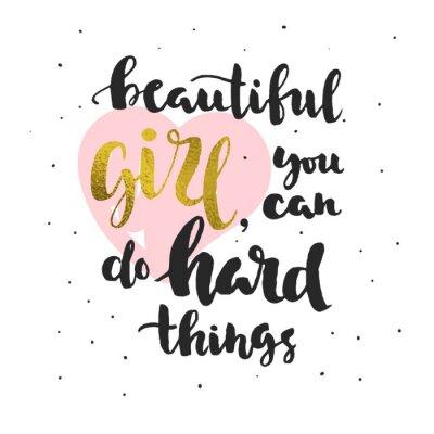 Naklejka Cytat na temat wiary w siebie (dla dziewczynek)