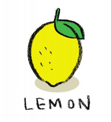 Naklejka Cytrynowy