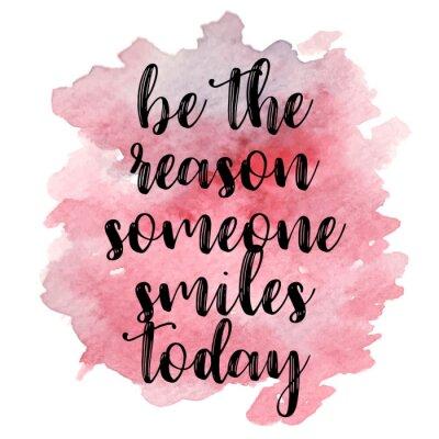 Naklejka Cytuj To powód, dla którego dziś się uśmiecha. Ilustracji wektorowych