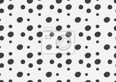czarna polka dot w białym tle