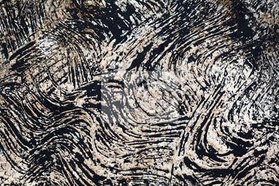 Czarne tło wulkanicznego piasku na ścianie