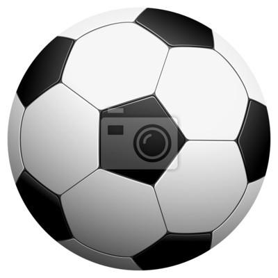 czarno-białe piłki nożnej - ilustracji wektorowych