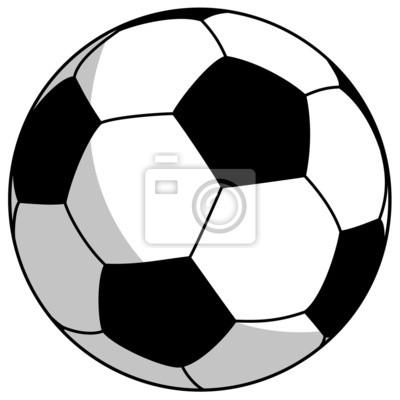 czarno-białe piłki nożnej - proste, ilustracji wektorowych