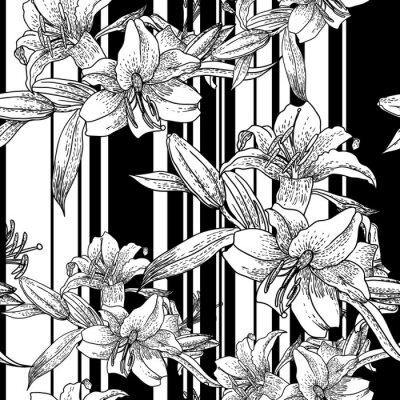 Czarno-białe tło bezszwowych