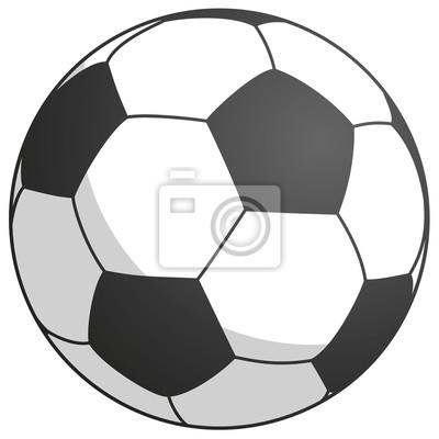 czarno biały futbol - po prostu ilustracji wektorowych