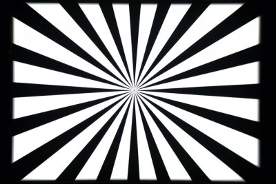 Naklejka Czarno-biały wzór testowy