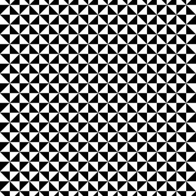 Naklejka Czarno-biały wzór trójkąta