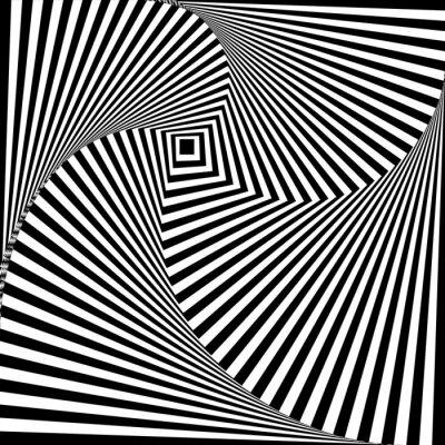 Naklejka Czarno-biały złudzenie optyczne