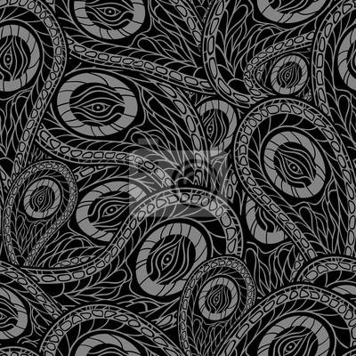 Czarny bez szwu z Paisley. Ilustracji wektorowych.