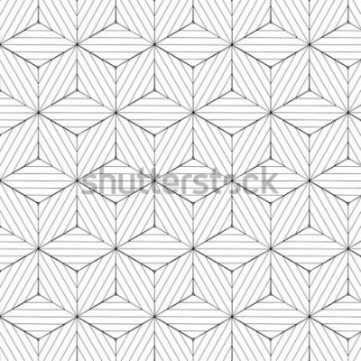 Naklejka Czarny i biały geometryczny wzór, tło wektor.