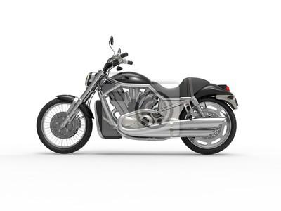 Naklejka Czarny rower Roadster - widok z boku