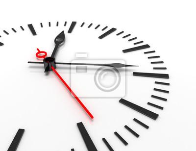 Naklejka czas pojęcie zegar zbliżenie 3d