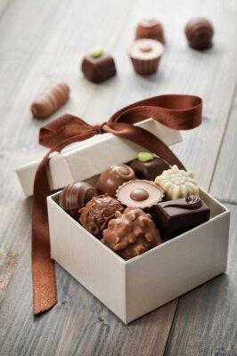 Naklejka czekoladki