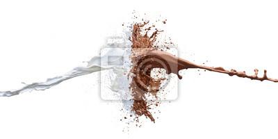 Naklejka czekolady i mleka powitalny