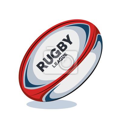 czerwona piłka rugby, biały i niebieski projektu ilustracji wektorowych eps 10