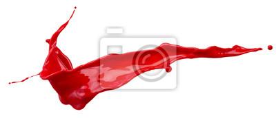 Naklejka Czerwona plama powitalny na białym tle