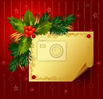 czerwone Christmas tło