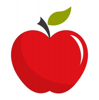 Naklejka Czerwone jabłko ilustracja