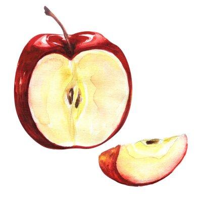 Naklejka Czerwone jabłko na białym tle wycięcia