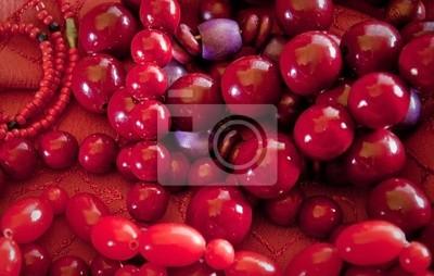 czerwone koraliki naszyjnik