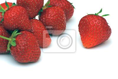 Czerwone soczyste truskawki