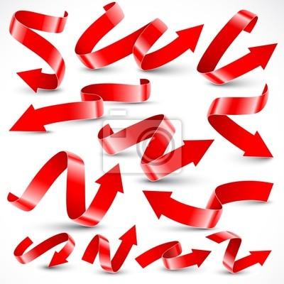 Czerwone strzałki. Ilustracji wektorowych.