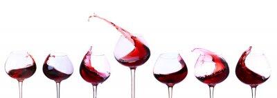 Naklejka Czerwone wino na białym