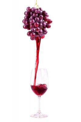 Naklejka Czerwone wino ze świeżych winogron