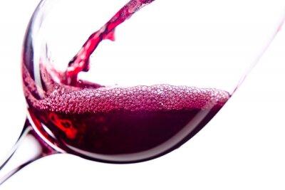 Naklejka Czerwonego wina na białym tle