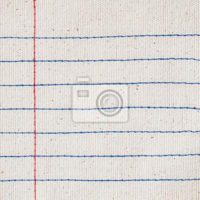 czerwony i niebieski wątku ściegu jako linie notebooków wzór na placu śmietany płótnie tekstury
