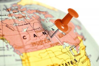 Naklejka Czerwony pin na mapie.