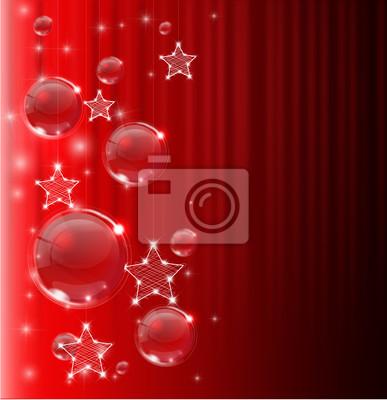 Naklejka Czerwonym tle