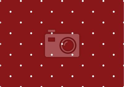 czerwonym tle polkadot