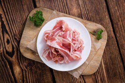 Naklejka Część surowego Bacon