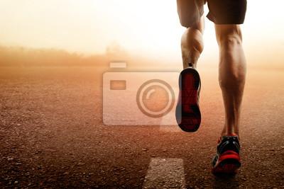 Naklejka Człowiek biegnie