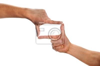Człowiek rąk co ramki