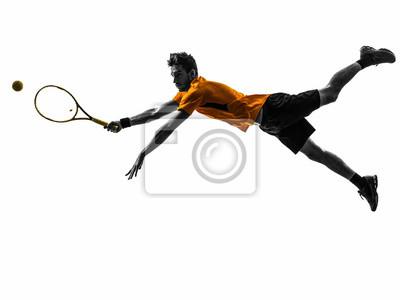 Człowiek sylwetka tenisista