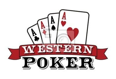 Cztery asy na białym. Poker icon