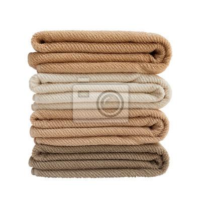 Cztery ręczniki wyizolowanych nad białym