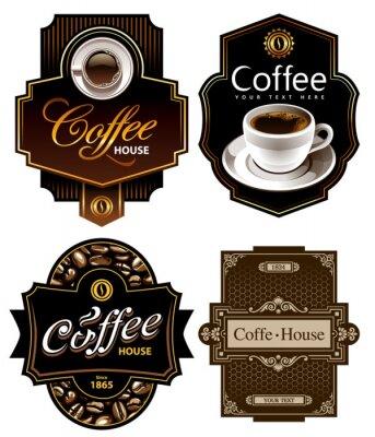 Cztery szablony kawy projekt