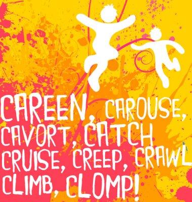Naklejka czynne postacie tekst serii ćwiczeń plakat motywacyjny