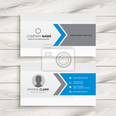 czysty biały design wizytówka