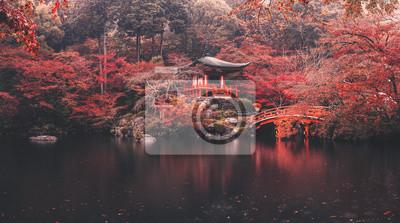 Naklejka Daigo-ji temple in autumn season at japan