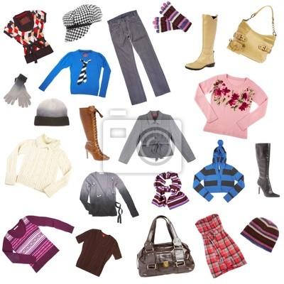 Damskie ubrania. Zimowe ubrania